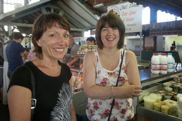 Marie-Christine Grandjean, President Essert Twinning Group and Mary Breslin, Irish Group Leader