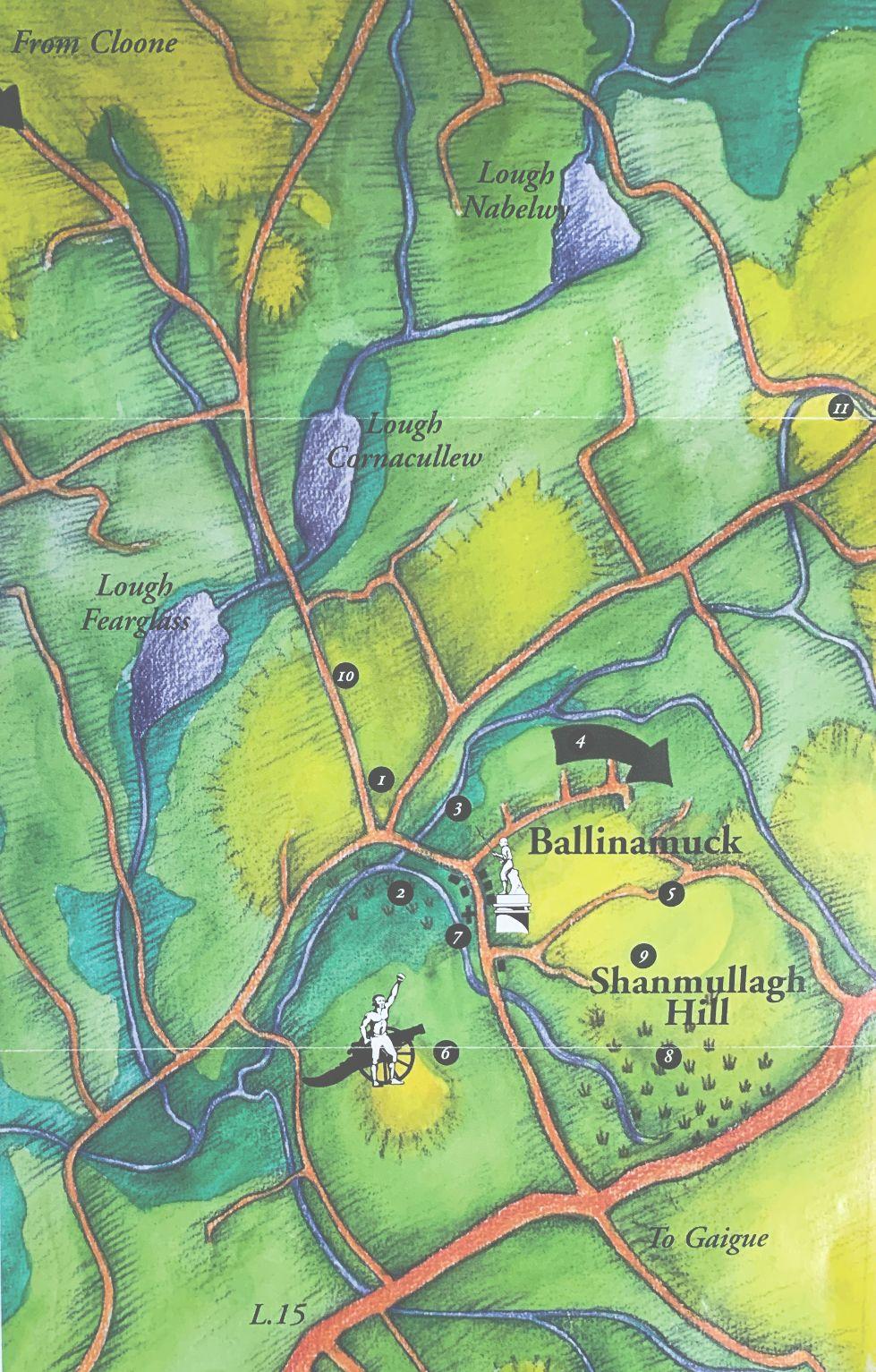 battle of ballinamuck map